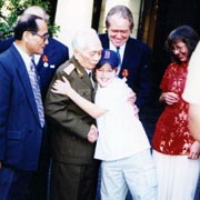 General Giap greets George Mizo's son