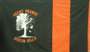 Flag reading Agent Orange | Dioxin Kills