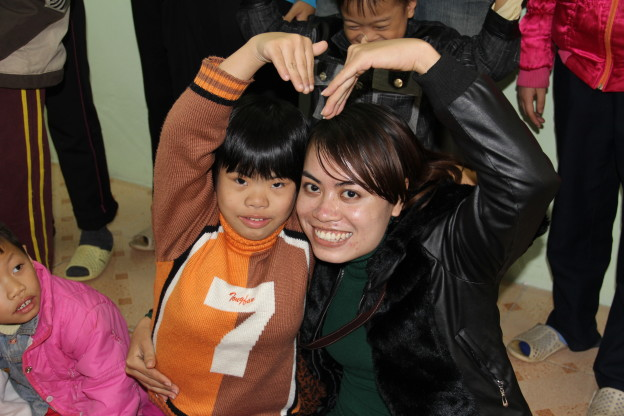 Kim Anh Nguyen Thi feeling the love at the Friendship Village.
